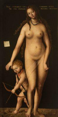 Lucas Cranach der Ältere. Venus und Cupido. 1509, Staatliche Eremitage, St. Petersburg