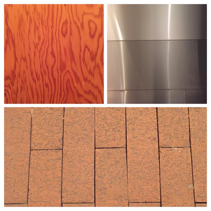 Holz. Metall. Klinker. Die Materialien, die im MartA Herford benutzt wurden.