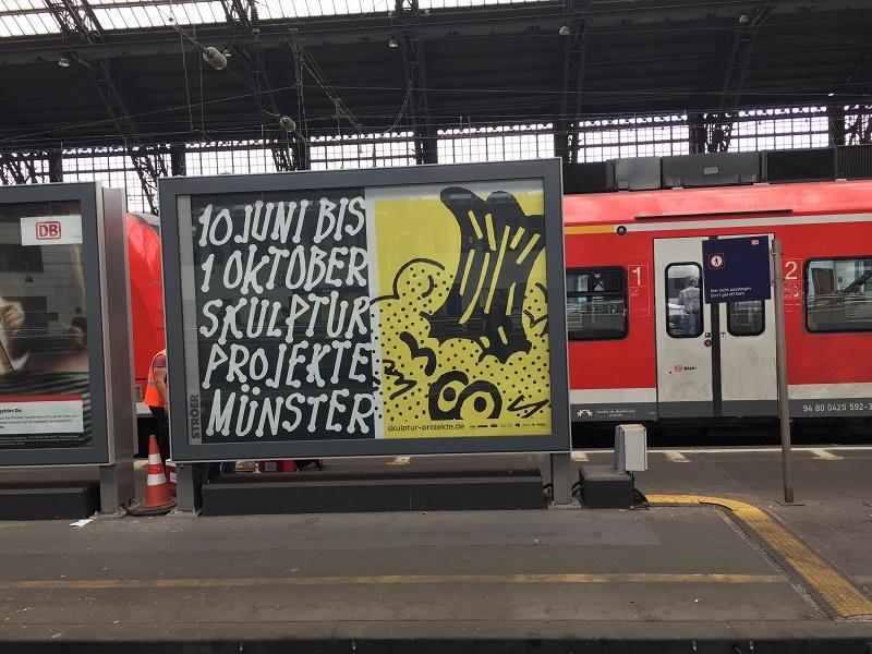 Plakatwerbung für die Skulptur-Projekte in Münster