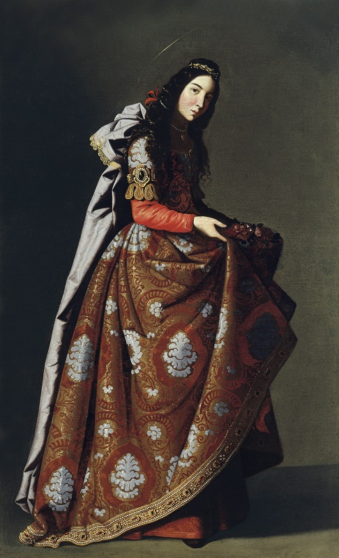 Francisco de Zurbarán Santa Casilda, ca. 1635 Öl auf Leinwand, 171 x 107 cm, Museo Thyssen-Bornemisza, Madrid © Museo Thyssen-Bornemisza, Madrid Francisco de Zurbarán