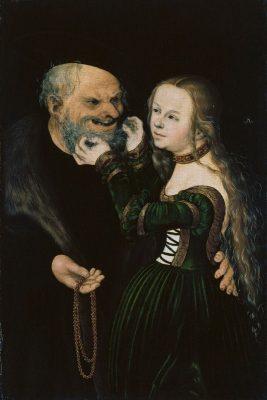 Lucas Cranach der Ältere. Das ungleiche Paar, um 1530
