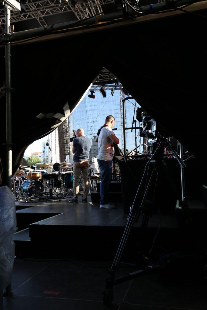 Backstage beim OpenAir des Hessischen Rundfunks.