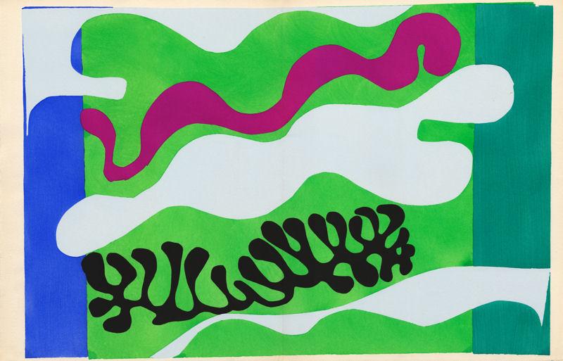 """Henri Matisse. Tafel XVII """"Die Lagune"""" aus dem Malerbuch Jazz."""