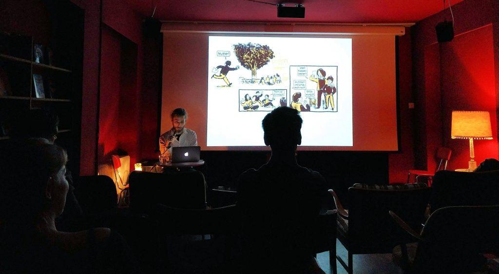 Comic-Lesung in der Kölner Traumathek.