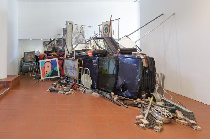 Museum Ludwig, ML, Ahmet Ögüt, Installation, Bakunins Barrikade, 19.08.2016, Köln
