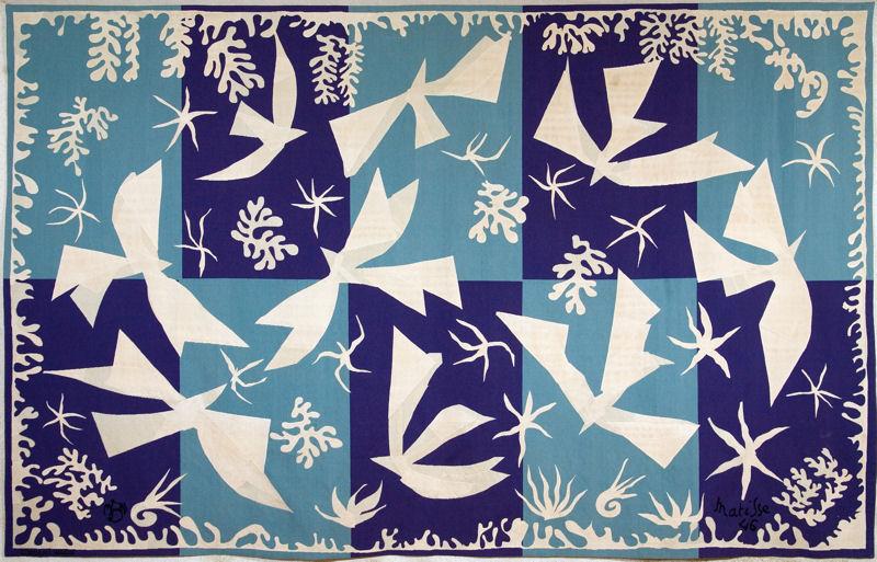 Henri Matisse. Teppich. Polynesien, Der Himmel. Derzeit im Picasso Museum Münster zu sehen.