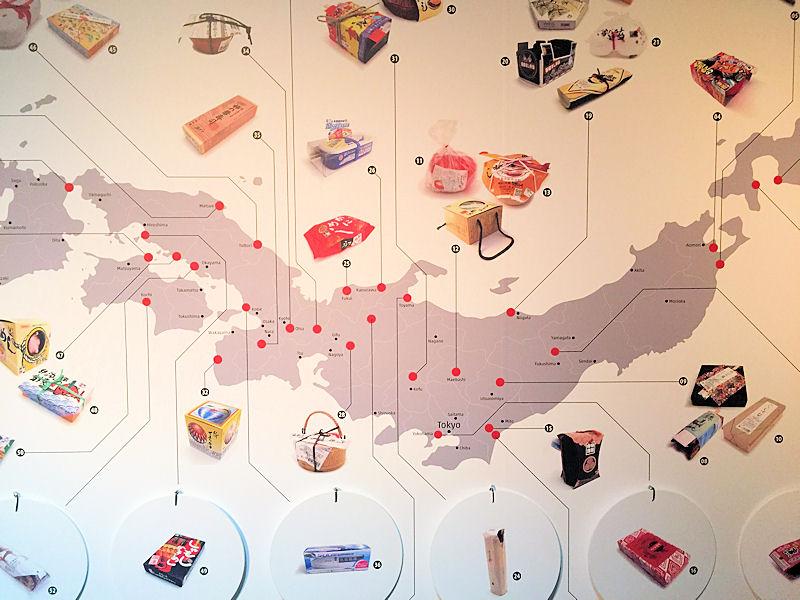 ekiben bento Präsentation in der Ausstellung Oishii im Linden-Museum
