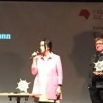 Christiane Frohmann mit Laudatio für Eric Jarosinski
